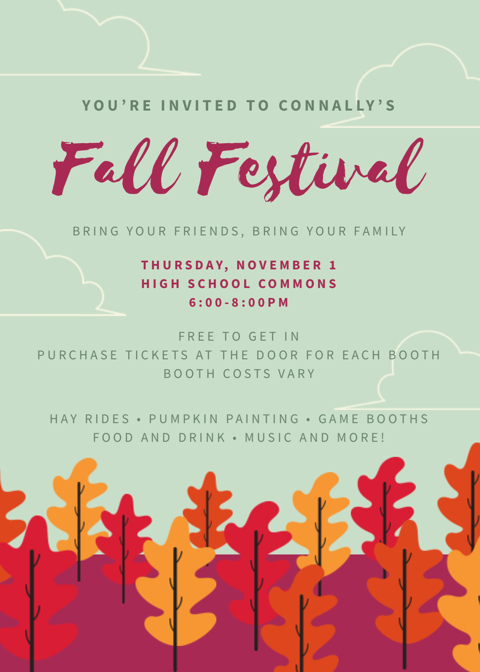 Information for our High School Fall Festival