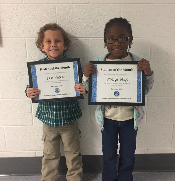 Pre-K Students of the Month