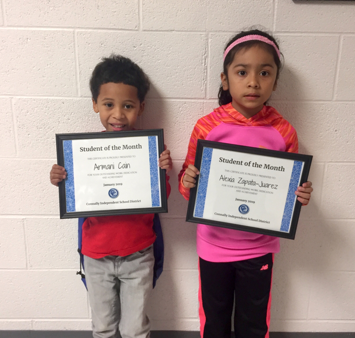 Kinder Students of the Month