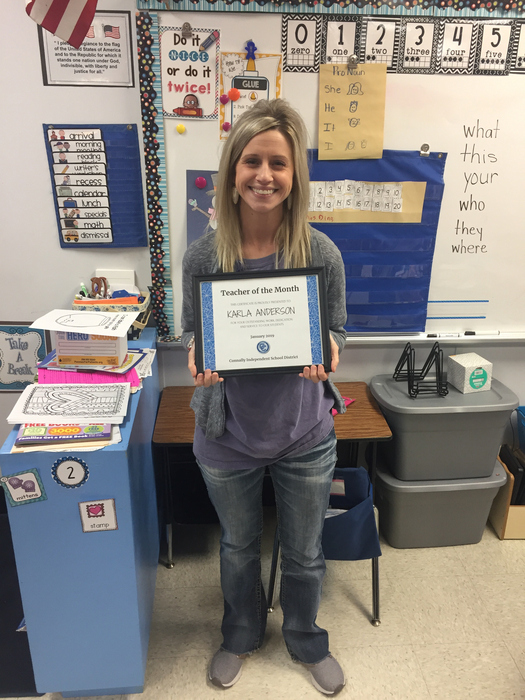 Kinder Teacher of the Month